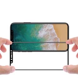 Skærmbeskyttelse iPhone X med sort kant