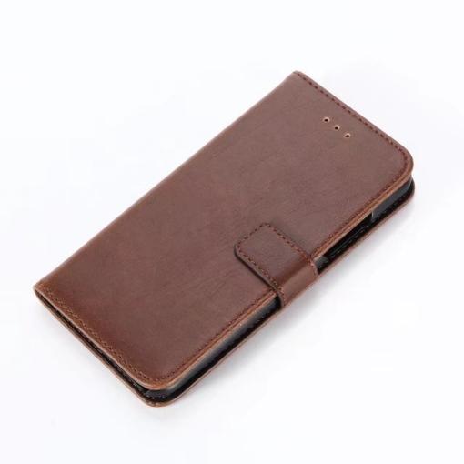 iPhone X kortholder læderpung brun 3