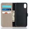 iPhone X kortholder læderpung sort 3