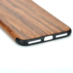 iPhone X soft slim wooden cover rosewood 1