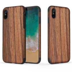 iPhone X soft slim wooden cover rosewood 2