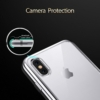 iPhone X transparent soft cover med sølv kant 3