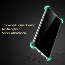 iPhone X transparent soft cover med sølv kant 4