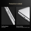 iPhone X transparent soft cover med sølv kant 5