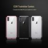 iPhone X transparent soft cover med sølv kant 8