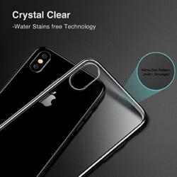 iPhone X transparent soft cover med sort kant 5