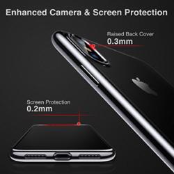 iPhone X transparent soft cover med sort kant 6