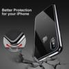 iPhone X transparent soft cover med sort kant 7