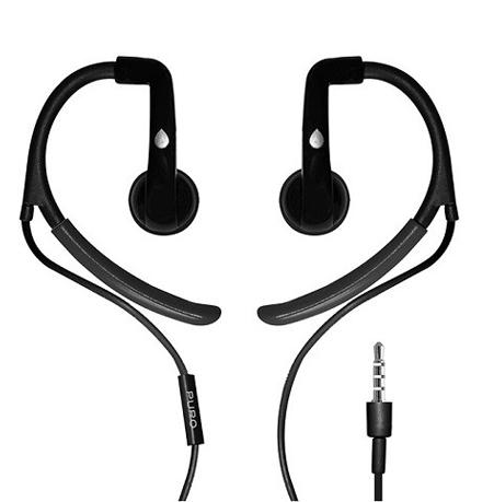 Sport høretelefon med earhook Puro Stereo 1