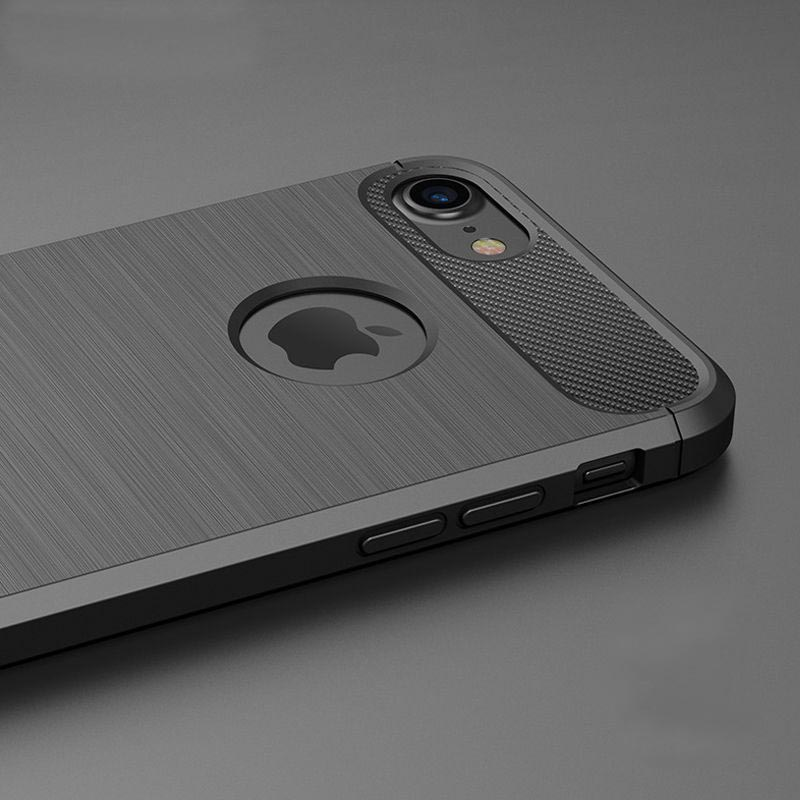 Carbon soft slim TPU cover iPhone 7-8 PLUS 4