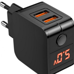 Dobbelt USB Fast charger LED display