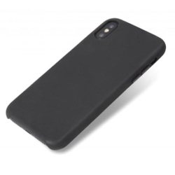 Slim-fit sort læder cover iPhone X- Xs